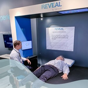 The REVEAL by XSENSOR Mattress Recommendation System show room